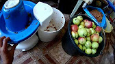 Соковыжималка Нептун скорость переработки яблок - YouTube