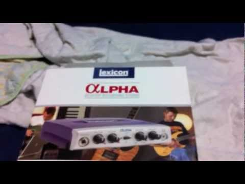 lexicon alpha home recording studio audio interface review youtube. Black Bedroom Furniture Sets. Home Design Ideas
