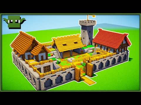Minecraft Fortified Farm Tutorial (EASY 5X5 BUILDING SYSTEM)