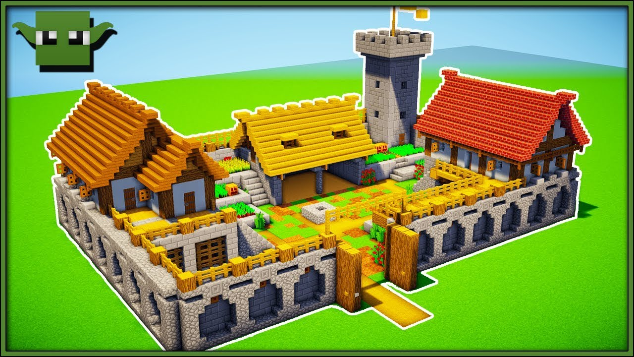 Minecraft Fortified Farm Tutorial (EASY 17X17 BUILDING SYSTEM)