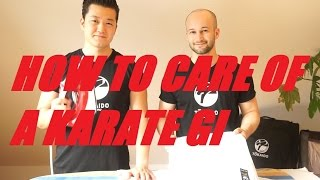 HOW TO CARE OF A KARATE GI UNIFORM - washing, ironing, folding - TEAM KI