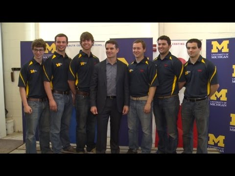 JEFF GORDON PARTNERSHIP HELPS UNIVERSITY OF MICHIGAN ENGINEERING STUDENTS