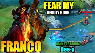 Non Stop Ganking Franco, Nightmare Bush Hook [ Top Global Franco ] Bee-a - Mobile Legends