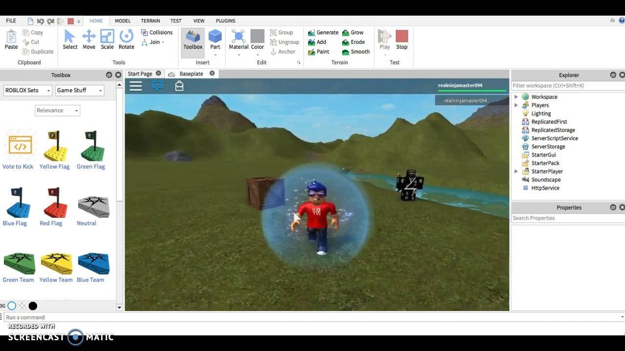 Roblox Studio Basic Tutorial 1 Youtube