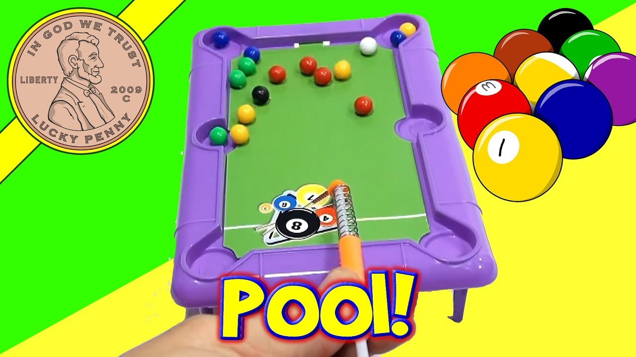Exceptional Mini Desk Top Novelty Pool Table Dollar Store Game, Ja Ru Toys   YouTube