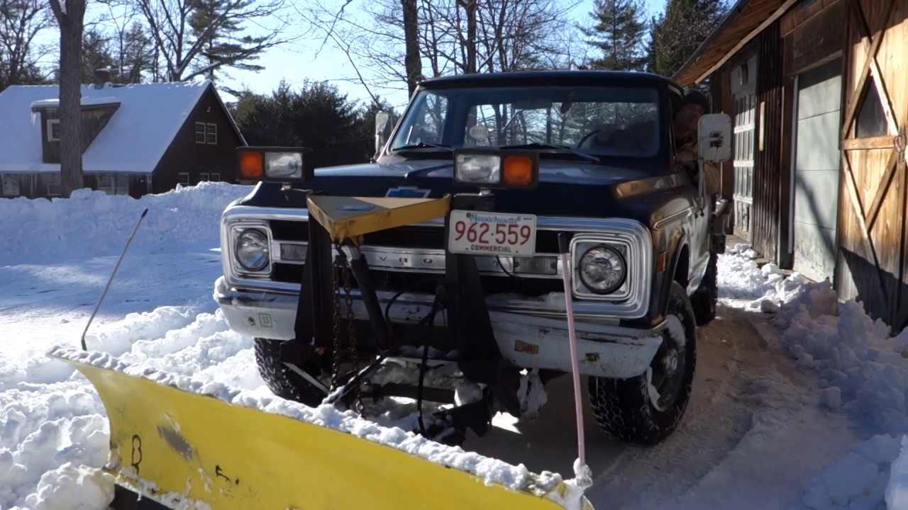 1970 Chevy Plow Truck In Service 2017 Youtube