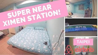 Gambar cover Walking to our Airbnb from Ximen Station & Room Tour! | Taipei, Taiwan