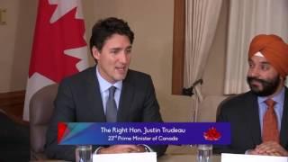 Prime Minister Justin Trudeau meets 'Khalifa of Islam' Ahmadiyya