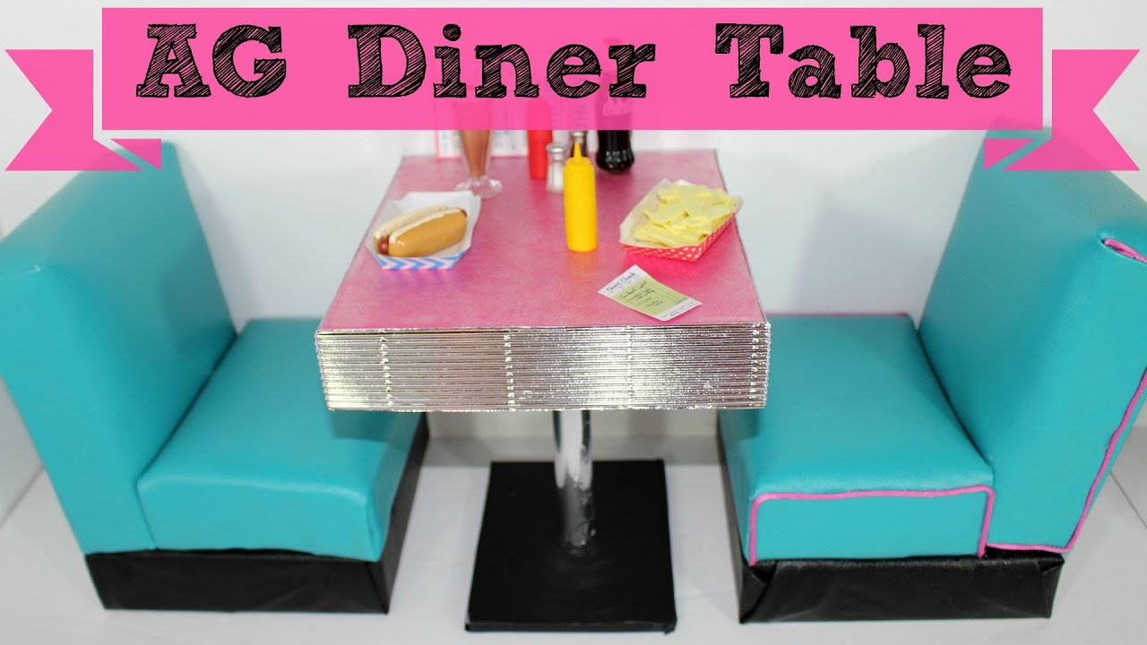 DIY American Girl Doll Diner Table YouTube