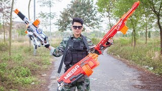 LTT Nerf War :  Nerf Guns Battle Family Boy Friend | Criminal group 3