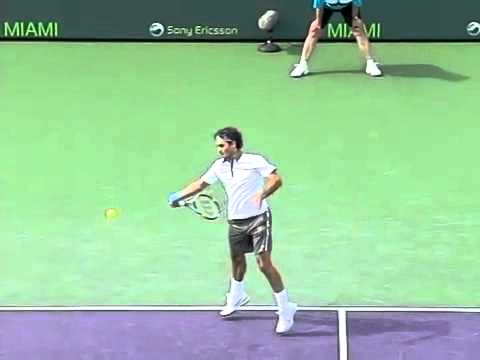 Học Tennis - Federer serve and forehand pronate at contact