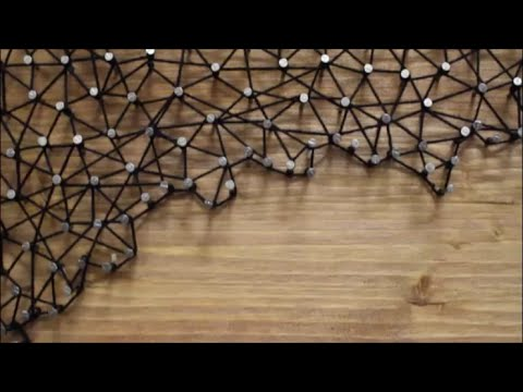 DIY: Baum Fadenbild / String Art / Nagelbild - YouTube