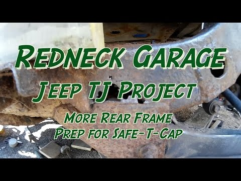 Jeep Wrangler TJ Frame Repair – Cleaning- Grinding- Cussing