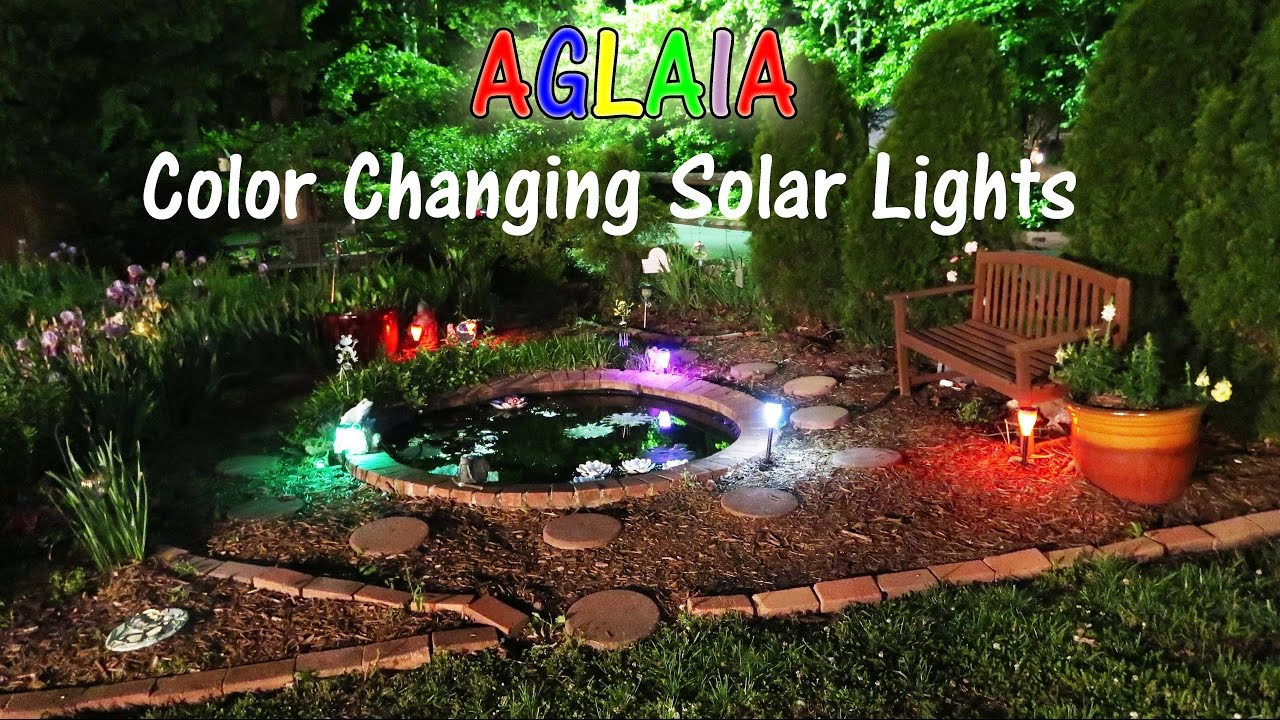 AGLAIA COLOR CHANGING SOLAR LIGHTS 🌟 OUTDOOR PRODUCT REVIEW 👈