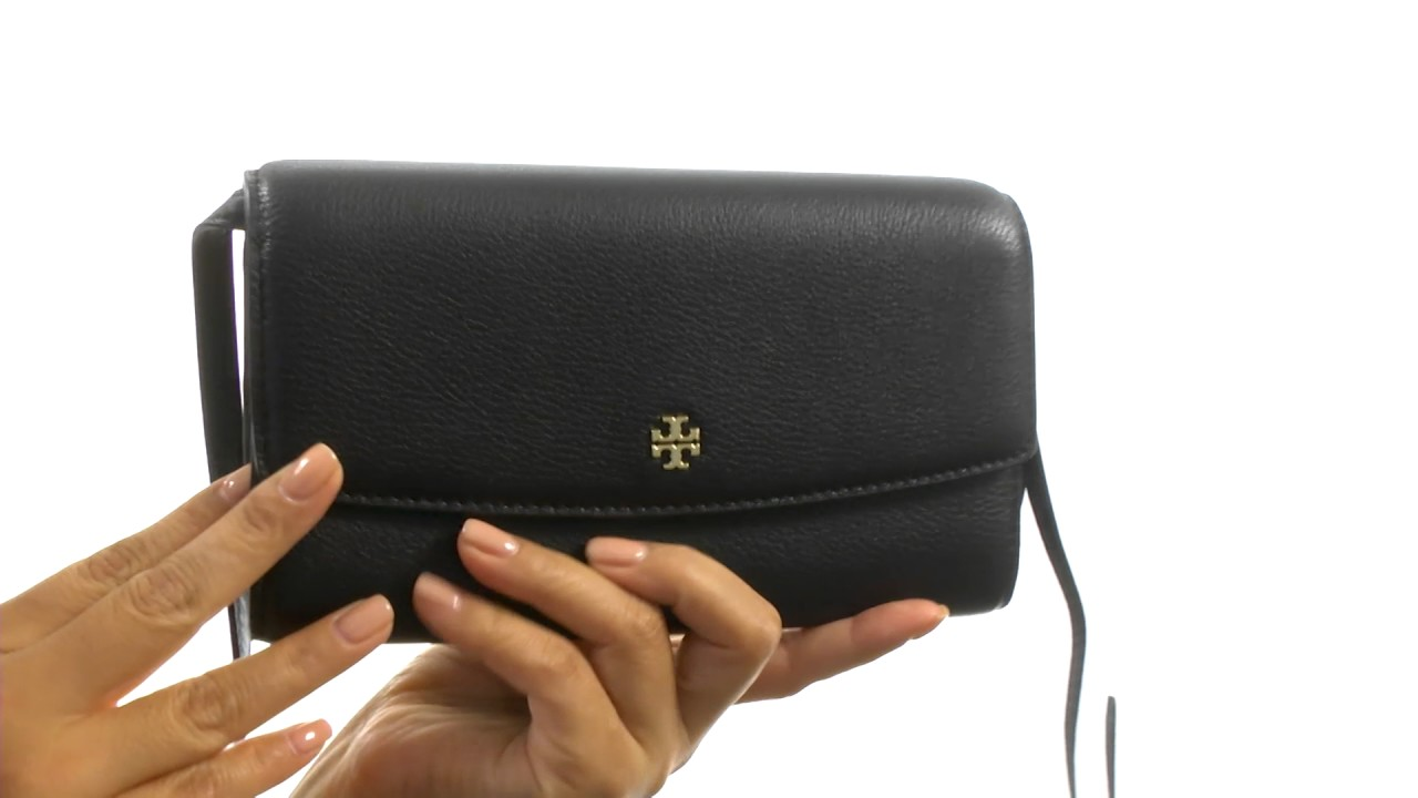 8e781bb7ccf Tory Burch Robinson Pebbled Mini Flap Wallet Crossbody SKU 8902411 ...