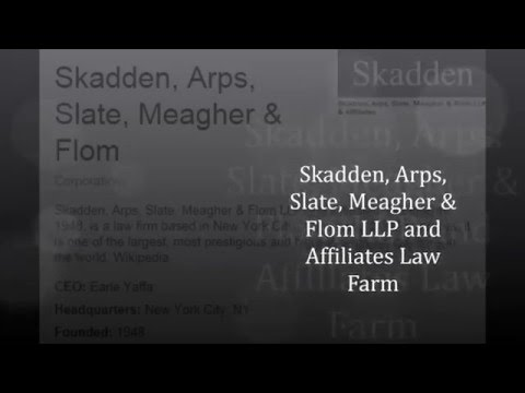 Law Firms (Skadden, Arps, Slate, Meagher & Flom LLP And Affiliates 3)