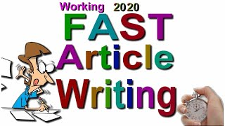 Fast Articles writing plagiarism free 2020 Feb