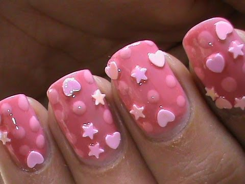 baby pink cute nail art designs  youtube
