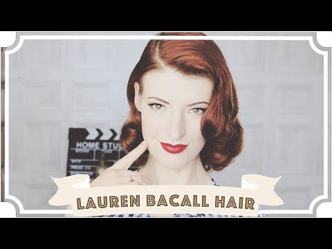 Lauren Bacall Vintage Hair Tutorial  How To Curl Your Hair CC