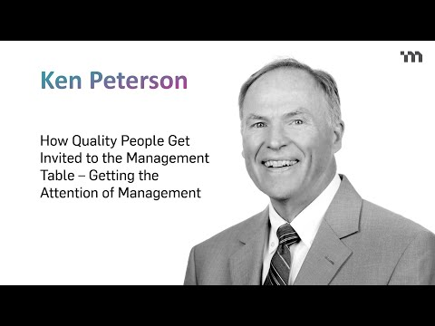 Getting Invited to the Management Table