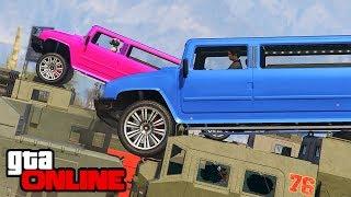 RACING, BUILD-A-BRIDGE & DEMO DERBY! || GTA 5 Online || PC (Funny Moments)