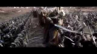 The Hobbit: The Battle of the Five Armies  -  Dwarves and Elves Charge on Orcs