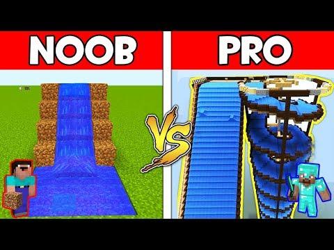 Minecraft - NOOB vs PRO : WATER SLIDE in Minecraft ! AVM SHORTS Animation