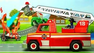 Мультики про машинки. Пожарная машина и гоночные машинки в мультике Марафон. Мультфильм для детей.