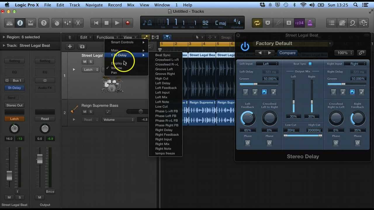how to use bias fx in logic