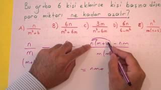 Sayı problemleri soru çözümü Şenol Hoca Matematik