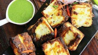 Malai Paneer Tikka on Tawa Recipe   Restaurant Style Paneer Tikka on Tawa   Village Travel Food