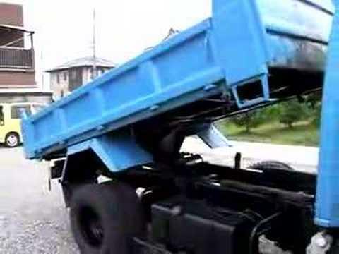 Mr.Lawrence Isuzu ELF dump 3ton Dump bed testing
