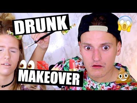 Giving a BEAUTY GURU a DRUNK MAKEOVER  Philip Green ft. Hannah Leigh
