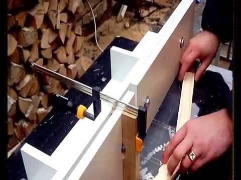 Изготовление боковой планки магазинной рамки 145 мм сверление и выборка Гофмановского разделителя