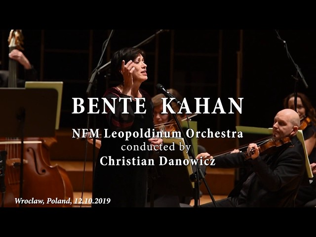 Bente Kahan with NFM Leopoldinium Orchestra - 12.10.2019 Wroclaw - Promo Video