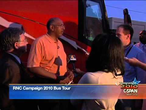 Republican National Committee Campaign Bus in Little Rock, AR