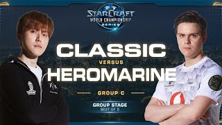 Classic vs HeRoMaRinE PvT - Group C - 2019 WCS Global Finals - StarCraft II