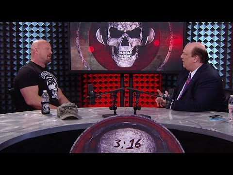 "WWE Network: Paul Heyman grills ""Stone Cold"" Steve Austin about facing Brock Lesnar at WrestleMania"