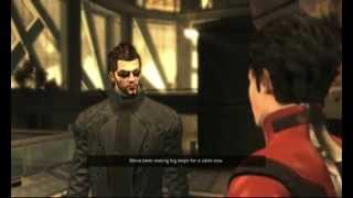 Returning to Hengsha island Adam Jensen finds himself and Faridah the target of a surprise attack by an armored Belltower squad then goes into the sewers to