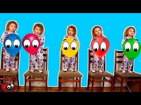 Cinci Copilasi Sareau pe Pat | Five Little Babies Jumping on the Bed | Cantec pentru Copii