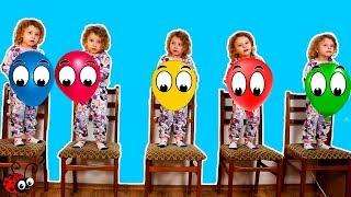 Cinci Copilasi Sareau pe Pat   Five Little Babies Jumping on the Bed   Cantec pentru Copii