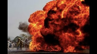 An Oil Tanker flips over and explodes in Pakistan 146 dead http://w...