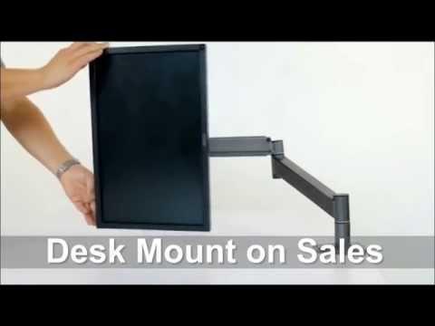 Computer Monitor Desk Mount Swing Arm Adjustable Tilting Swivel