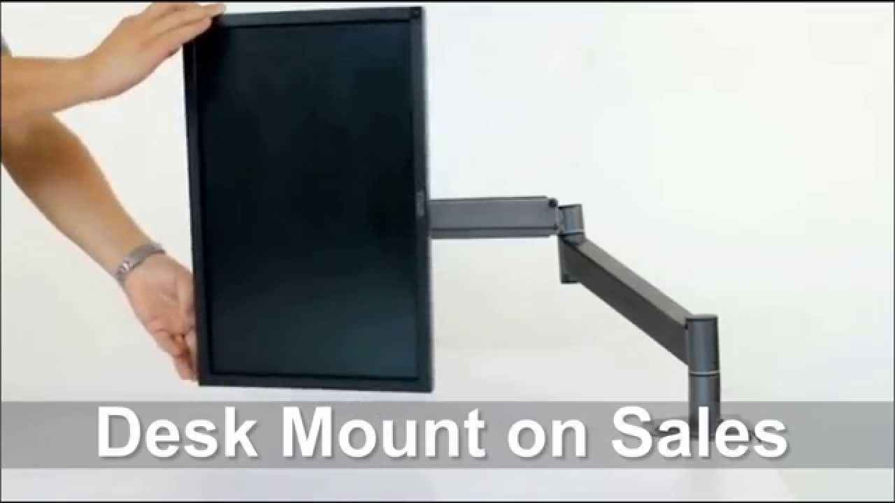 Lovely Computer Monitor Desk Mount Swing Arm Adjustable Tilting Swivel   YouTube