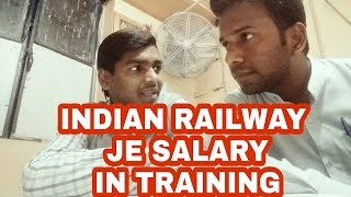 RRB JE salary in trainings