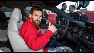 ليونيل ميسي يحصل على سيارة اودي جديدة مع زملائه في برشلونة