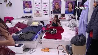 Zadruga 4 - Jovana pomaže Tomoviću da se smesti u spavaćoj sobi - 16.11.2020.