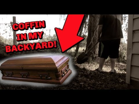 I found a Coffin in my Backyard! (DON'T DIG IN BACKYARD)
