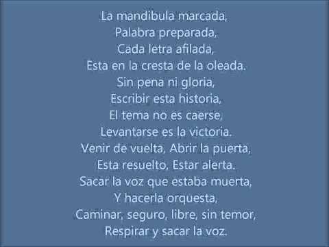 »Sacar La Voz - Anita Tijoux Ft. Jorge Drexler Letra