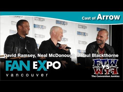 Arrow's David Ramsey, Neal McDonough & Paul Blackthorne   Expo Vancouver 2017 Q&A Panel